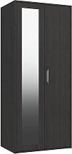 Ashdown 2 Door Mirror Wardrobe - Dark Grey