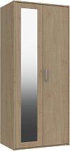 Ashdown 2 Door Mirror Wardrobe - Oak Effect