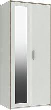 Ashdown 2 Door Mirror Wardrobe - White