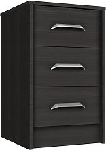 Ashdown 3 Drawer Bedside Table - Dark Grey