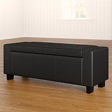 Ashley Upholstered Storage Bench Three Posts