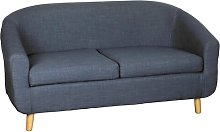 Ashlyn Loveseat Zipcode Design Upholstery: Navy