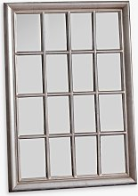 Ashmore Rectangular Window Frame Wall Mirror, 106