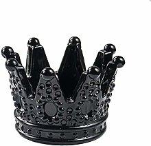 Ashtray Ashtray Transparent Black Crown Glass
