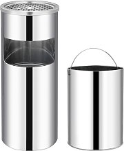 Ashtray Dustbin Hotel 30 L Stainless Steel VD30844
