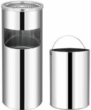 Ashtray Dustbin Hotel 30 L Stainless Steel