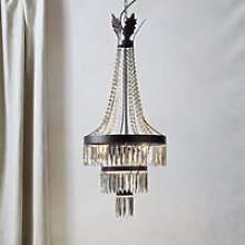 Ashwell Chandelier Ceiling Light, Brown, One Size