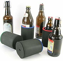 asiahouse24 4 x Black Drinks Coolers, Beer Cooler,