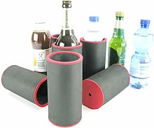 asiahouse24 6 x Black Drinks Coolers, Beer Cooler,