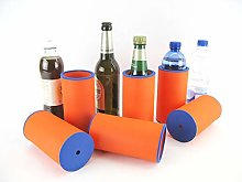 asiahouse24 6 x Orange Drinks Cooler - Beer Cooler
