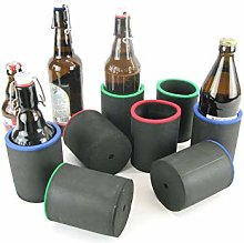 asiahouse24 8 x Black Drinks Coolers, Beer Cooler,