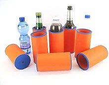 asiahouse24 8 x Orange Drinks Cooler - Beer Cooler