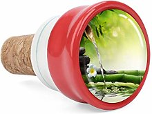 Asian Style Green Bamboo Leaves Wine Cork Wine