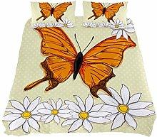 ASIGA Beautiful Orange Butterfly Flowers Double