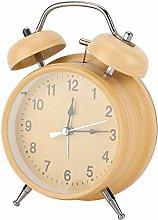 Asixxsix Alarm Clock, Wind-Up Power-Saving Metal