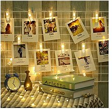 ASKLKD LED Photo Clip String Lights Decorative