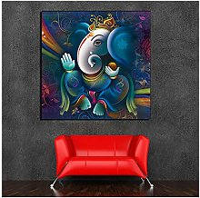 ASLKUYT Ganesha Painting Canvas Painting Print