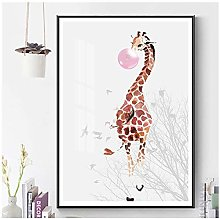 ASLKUYT Pink Bubble Giraffe Child Animal Nursery