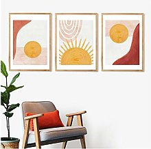 ASLKUYT Rainbow Nursery Decor Boho Sunshine Wall