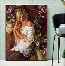 ASLKUYT Women Elegant Art Wall Paintings Print