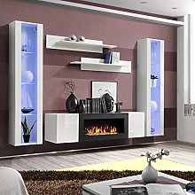 ASM FLY M2 Wall Unit 260cm Wide PUSH-CLICK Glass
