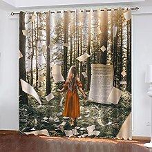 ASNIVI Blackout Curtains For Bedroom Sunshine