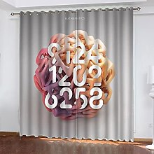 ASNIVI Blackout Curtains For Living Room Ball Pink