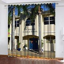ASNIVI Blackout Curtains For Living Room Coconut