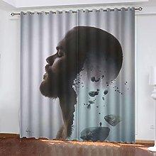 ASNIVI Blackout Curtains For Living Room Music