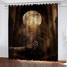ASNIVI Blackout Panels For Small Windows Moon Sand