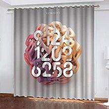 ASNIVI Printing Window Curtain Ball Pink Numbers