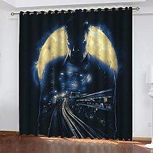 ASNIVI Printing Window Curtain Moon Man City Orbit