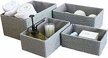 ASP Storage Baskets Set 4 Stackable Woven Basket