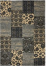 ASPECT Fez Vintage Style Area Rug, Black, 120x170cm