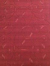 ASPECT Floral Patterned Rug-Wine Red 140x200cm,