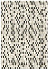ASPECT Taupe Mosaic Geometric Check Pattern Area