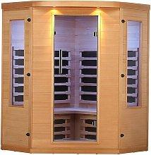 Aspen 4 Person FAR Corner Sauna with Heater