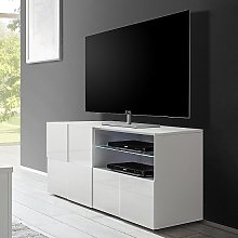 Aspen Contemporary TV Stand In White High Gloss