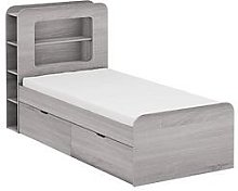 Aspen Kids Storage Bed Frame - Grey Oak - Storage