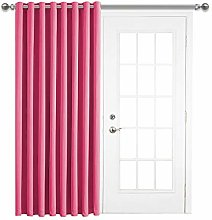 Aspire Homeware 84 Inch Drop Door Curtain Pink