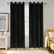 Aspire Homeware Black Crushed Velvet Curtains