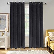 Aspire Homeware Crushed Velvet Curtains 46x54 Inch