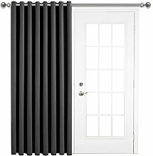 Aspire Homeware Grey Blackout Door Curtain 66 x 84