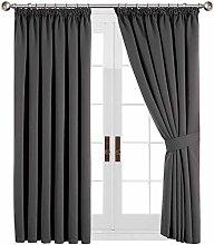 Aspire Homeware Grey Curtains Thermal Pencil Pleat