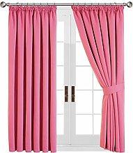 Aspire Homeware Pink Blackout Curtains for Bedroom