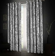 Aspire Homeware Silver Crushed Velvet Curtains 46