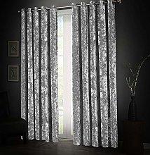 Aspire Homeware Silver Crushed Velvet Curtains