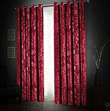 Aspire Homeware Soft Crushed Velvet Curtains 66x72