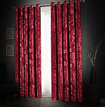 Aspire Homeware Soft Crushed Velvet Curtains 90 x