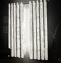 Aspire Homeware Soft Crushed Velvet White Curtains